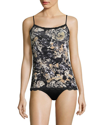 Jockey Lace-Trimmed Classic Camisole-BLACK PRINT-Small