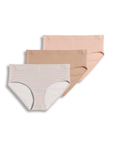 Jockey Three-Pack Diamond Cotton Hipsters-PINK/NUDE-8