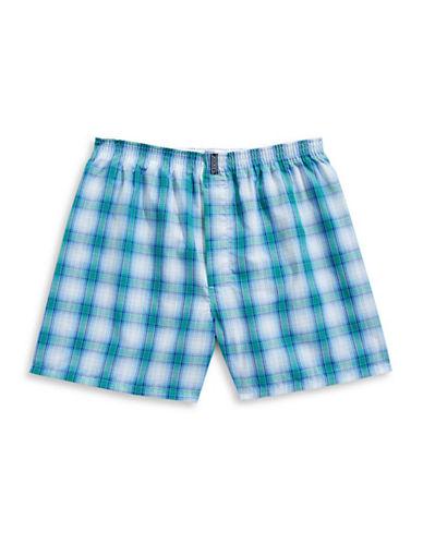 Jockey Checkered Boxer Shorts-WHITE-Large
