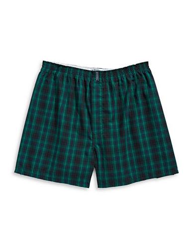 Jockey Checkered Boxer Shorts-GREEN-Medium
