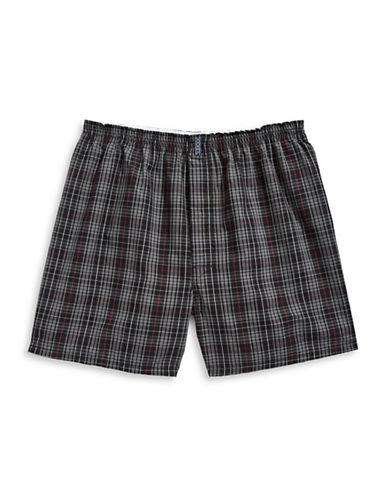 Jockey Classic Full Cut Boxer Shorts-PINK-Large