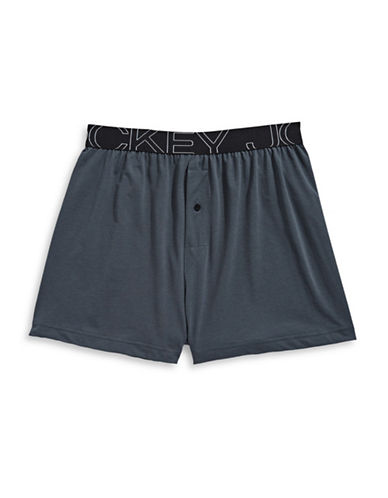 Jockey Active Blend Knit Boxer-CHARCOAL-Medium