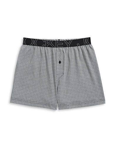 Jockey Active Blend Knit Boxer-LIGHT GREY-Large