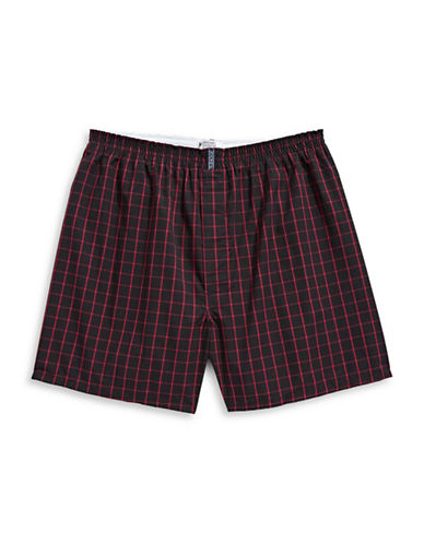 Jockey Checkered Boxer Shorts-GREY-X-Large