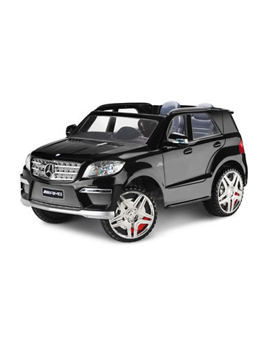 Kidtrax Mercedes Benz ML63 Ride-On Car-BLACK-One Size