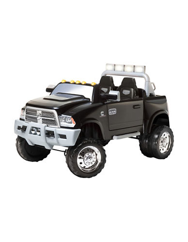 Kidtrax Dodge Ram 3500 Dually Ride-On Truck-BLACK-One Size