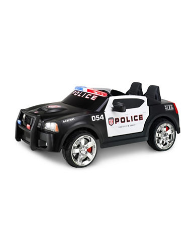 Kidtrax Dodge Police Ride-On Car-BLACK-One Size