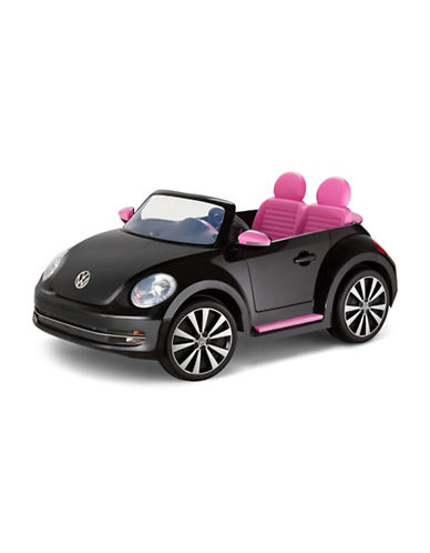 Kidtrax VW Beetle Convertible Ride-On Car-BLACK-One Size