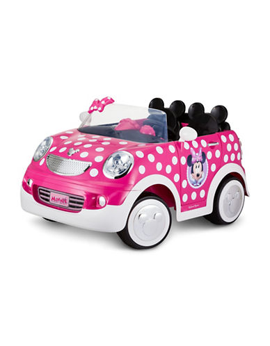 Kidtrax Minnie Mouse Hot Rod Coupe Ride-On Car-PINK-One Size