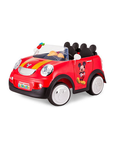 Kidtrax Mickey Mouse Hot Rod Coupe Ride-On Car-RED-One Size