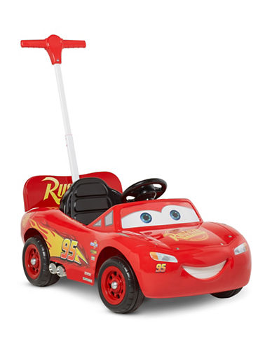 Kidtrax Disney Pixar Cars Lightning McQueen Volt Ride On-RED-One Size