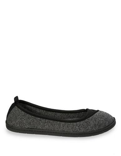 Dearfoam Memory Foam Envelope Ballerina Slippers-BLACK-X-Large