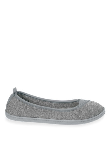 Dearfoam Memory Foam Envelope Ballerina Slippers-SLEET-Medium