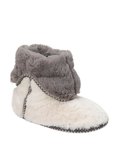 Dearfoam Pile Fold Boot Slippers-MUSLIN-X-Large