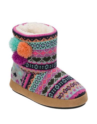Dearfoam Sweater-Knit Booties-GREY-2-3