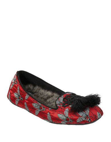 Nine West Quilted Smoking Slippers-RUBY-X-Large