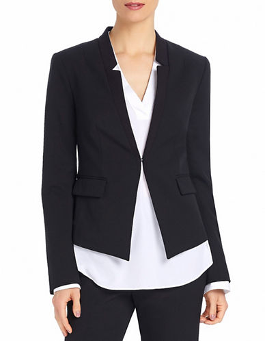 Ellen Tracy Reverse Notch Collar Jacket-BLACK-12
