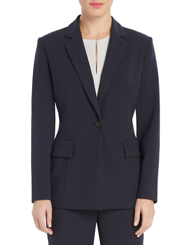 Ellen Tracy Fitted Boyfriend Blazer-NAVY-16