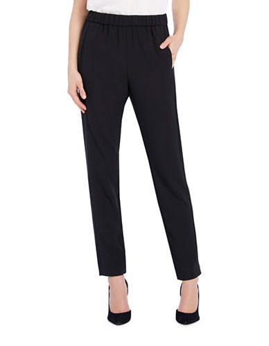 Ellen Tracy Tailored Crepe Pants-BLACK-X-Small 88648142_BLACK_X-Small