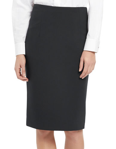 Ellen Tracy High-Waist Pencil Skirt-CHARCOAL-10