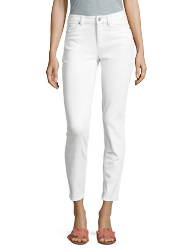 Two By Vince Camuto Stretch Skinny Jeans-WHITE-30
