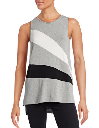 Vince Camuto Colourblock Tank Top-GREY-Large 88571951_GREY_Large