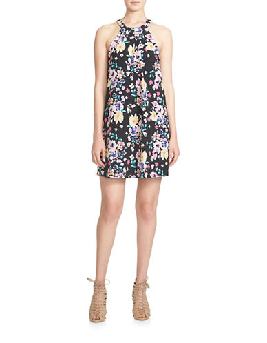 Cece Floral Halter Dress-MULTI-10