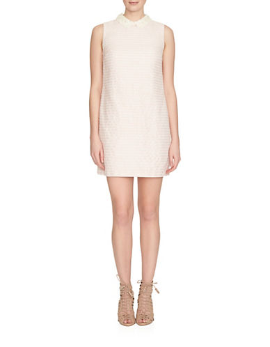 Cece Boucle Collared Shift Dress-PLUSH-2