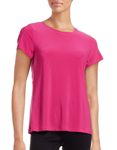 Cece Lace Trim T-Shirt-PINK-X-Large 88493592_PINK_X-Large