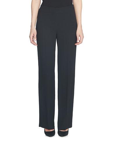 Cece Moss Crepe Straight Leg Pants-BLACK-0