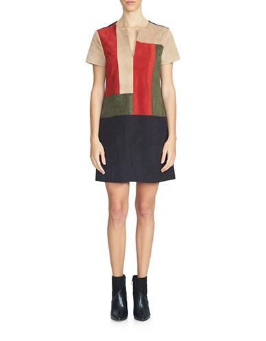 1 State Colourblock Shift Dress-RICH BLACK-Medium