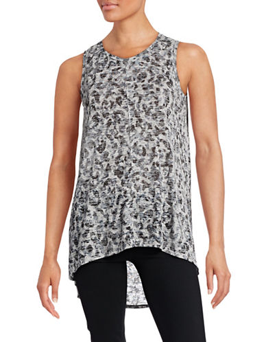 Two By Vince Camuto Hi-Lo Burnout Tank-BLACK-X-Small 88671641_BLACK_X-Small