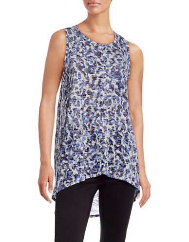 Two By Vince Camuto Hi-Lo Burnout Tank-BLUE-Medium 88671643_BLUE_Medium