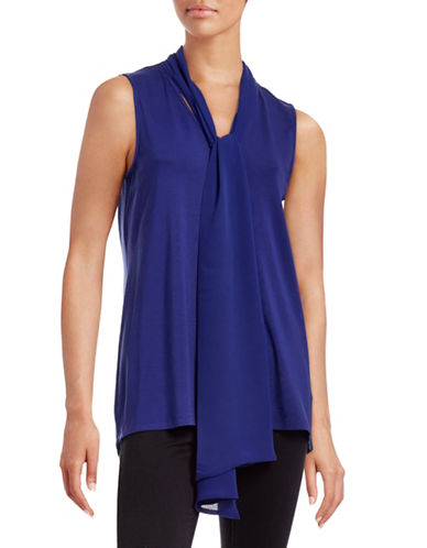 Vince Camuto Neck Tie Sleeveless Top-BLUE-X-Large 88660569_BLUE_X-Large