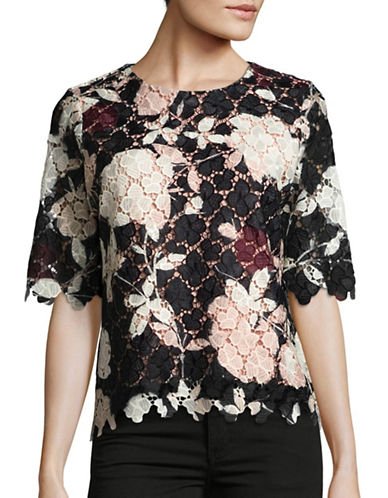 Vince Camuto Woven Floral Lace Top-PINK-X-Small 88699326_PINK_X-Small