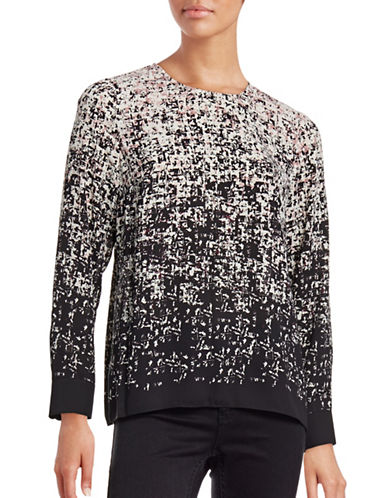 Vince Camuto Abstract Gradient Crepe Top-PINK-X-Small 88699349_PINK_X-Small