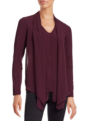 Vince Camuto Layered Shawl Top-PURPLE-Small 88699366_PURPLE_Small