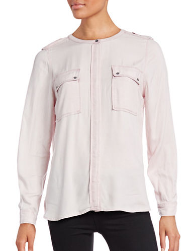 Two By Vince Camuto Relaxed-Fit Woven Top-PINK-Medium