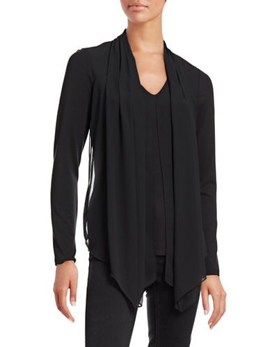 Vince Camuto Draped Overlay Top-BLACK-Medium 88699458_BLACK_Medium