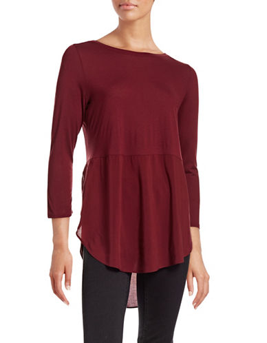 Two By Vince Camuto Vented Combo Top-RED-X-Large 88742402_RED_X-Large