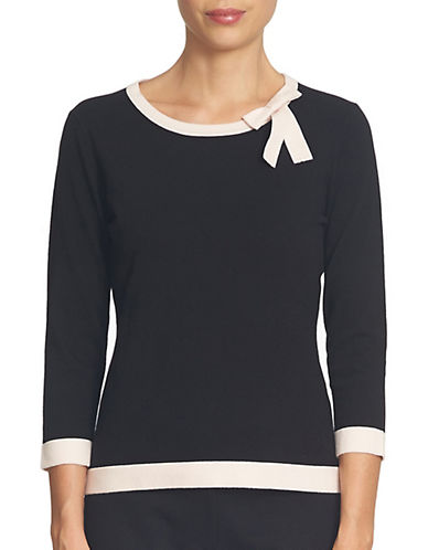 Cece Contrast Tipped Pullover-BLACK-Small 88806513_BLACK_Small