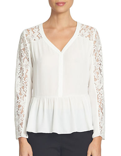 Cece Ruffled Peplum Top-WHITE-X-Small 88806553_WHITE_X-Small