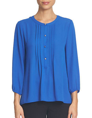 Cece Crepe Pintuck Blouse-BLUE-Small 88806474_BLUE_Small