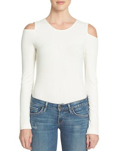Image of 1 State Cold Shoulder Bodysuit-NATURAL-Large