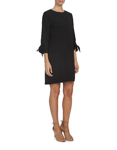 Cece Moss Crepe Dress-BLACK-6