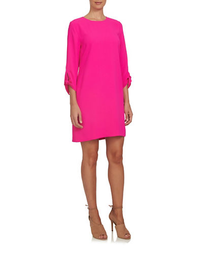 Cece Moss Crepe Dress-MAGENTA-10