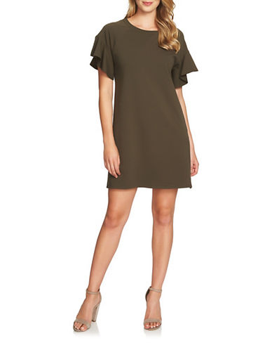 1 State French Terry Shift Dress-GREEN-Medium