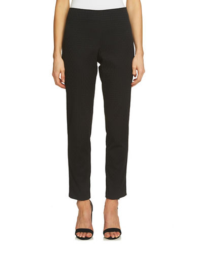 Cece Diamond Jacquard L-Pocket Pants-BLACK-2