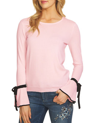 Cece Bow Tie Bell Sleeve Top-PINK-Small 89426194_PINK_Small