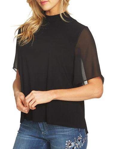 Cece High Neck Chiffon Top-BLACK-Small 89391743_BLACK_Small